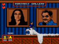 addams family portrait gallery on megadrive