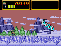 monster lair snow level on megadrive