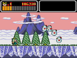monster lair snow level on pc-engine cd
