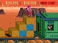 sunset riders train level on snes