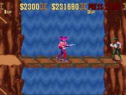 sunset riders waterfall level on snes