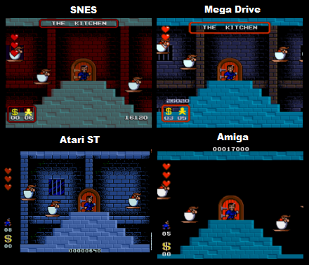 Addams Family Comparison: SNES Vs Genesis Vs Amiga Vs Atari ST
