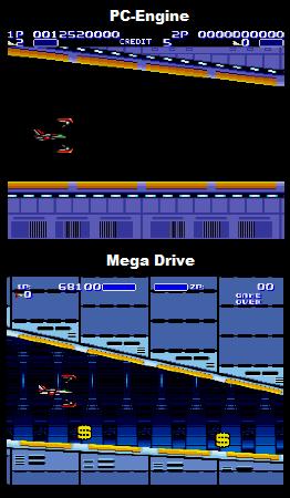 Air Buster Comparison: Genesis Vs PC-Engine