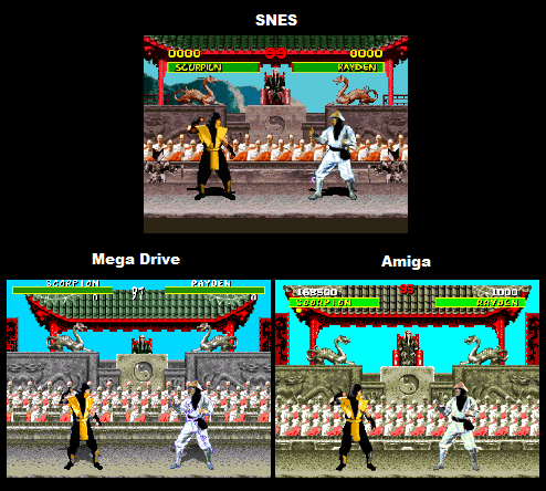 Mortal Kombat Comparison: Genesis Vs SNES Vs Amiga
