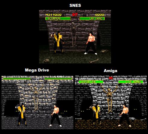 Mortal Kombat Comparison: Genesis Vs SNES Vs Amiga