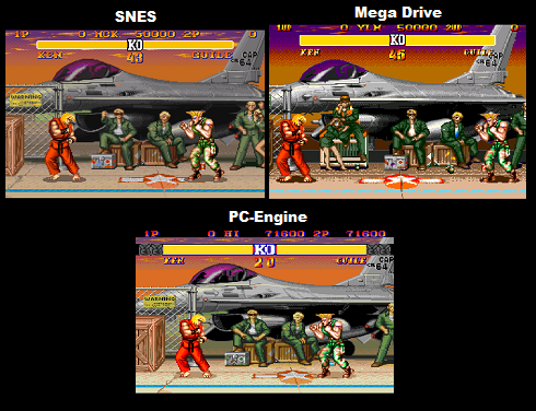 Street Fighter Ii Comparison Snes Vs Genesis Vs Tg 16