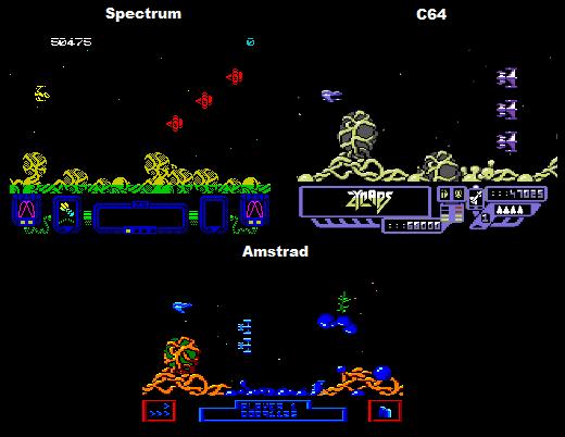 Zynaps Comparison: Spectrum Vs C64 Vs Amstrad